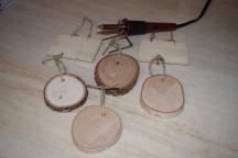 Various wood ornaments