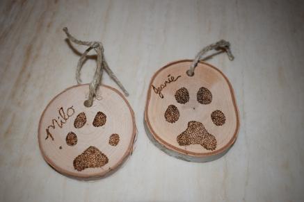 Paw Print Ornaments